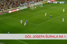 Slavia - Liberec: Gól Josefa Šurala na 1:1