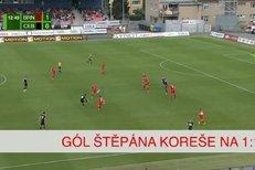 Zbrojovka Brno - České Budějovice: Gól Štěpána Koreše na 1:1