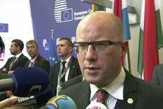 Komentář premiéra Bohuslava Sobotky před summitem v Bruselu.