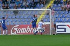 Liberec - Zlín: Koreš střílí do tyče, dorážející Jordán už míří do sítě 1:2