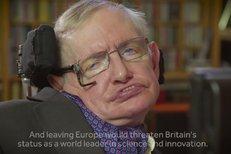 Stephen Hawking: Vědci EU potřebují.
