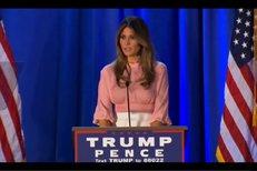 Proslov Melanie Trump v Pennsylvanii