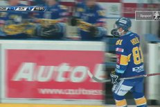 Kometa Brno - Zlín: Třetí gól hostí vsítil Petr Holík, 1:3