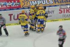 Zlín - Chomutov: Šťastný zachytil kotouč, pohrál si s obráncem a otevřel skóre