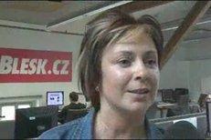 Ilona Svobodová v redakci Blesk.cz
