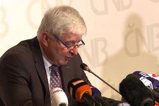 Guvernér Jiří Rusnok oznámil ukončení intervencí ČNB