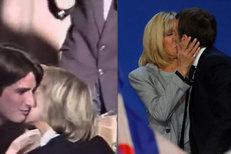 Podívejte se na první polibek Emmanuela Macrona a jeho ženy Brigitte