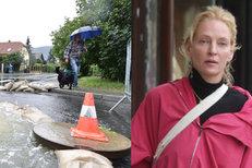 Voda se valí Českem: Ničí domy i silnice. A Uma Thurman je ve Varech
