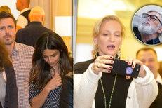Rozjařená Uma Thurman po večeři s Barťákem: Show pro novináře!