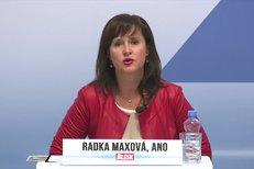 Sliby hnutí ANO pro sociální oblast: Lidem s nižšími a středními příjmy chceme snížit daně, řekla Radka Maxová