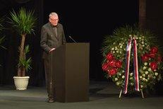Martin Huba - pohřeb Jana Třísky