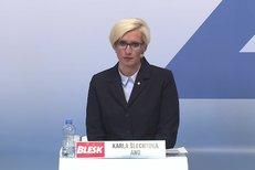 Karla Šlechtová (za ANO) představila vizi hnutí pro oblast dopravy, bydlení a životního prostředí.