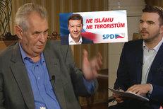 """Proč Zeman uhýbal otázce na Okamurovu lež? Takhle """"tančil"""" kolem zákazu islámu"""