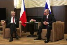 Zeman se setkal s Putinem: Čekal stejně dlouho jako britská královna