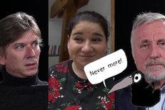 NEVER MORE: Jiří Strach, jůtůberka Sejroška a Mirek Topolánek
