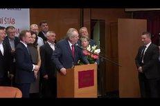 Znovuzvolený prezident Miloš Zeman