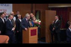 Miloš Zeman opět prezidentem: Podpořit ho přijela i Kačenka