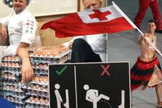 1. den na ZOH: Polonahý vlajkonoš, 15 tisíc vajec i návod na pisoáry