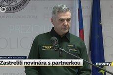 Slovenský policejní prezident: Novináře zabili zřejmě kvůli jeho práci