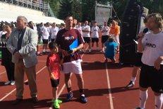 Pavel Nedvěd přijel do Hodonína oslavit 100 let založení tamního fotbalového klubu.