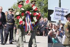 Zeman, Babiš, Šlechtová i Duka při pietě na Vítkově: Poklonili se padlým
