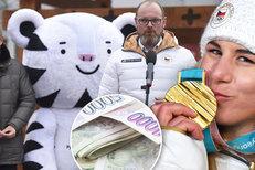 Ledecká a spol se dočkají peněz za medaile. Systém výplat se změnil