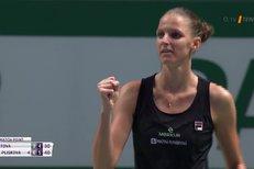 Turnaj mistryň: Plíšková - Kvitová 6:3, 6:4. Český souboj vydal semifinalistku
