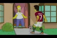 Cristiano Ronaldo si zahrál ve Simpsonech