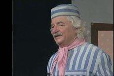 Ladislav Smoljak v divadelní hře Hospoda Na mýtince