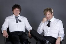 Slavné duo pózovalo v ateliéru Blesku