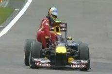 Fernando Alonso si na GP Německa stopnul Marka Webbera