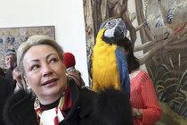 Mluvící papoušek na rameni první dámy Ivany Zemanové (52): Becky, hop! Ticho!
