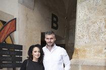 Lucie Bílá a Radek Filipi na vernisáži Kristiana Kodeta