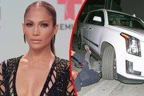 Bezohledný řidič Jennifer Lopez: Přejel fotografa!