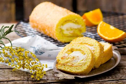 Pomerančová piškotová roláda