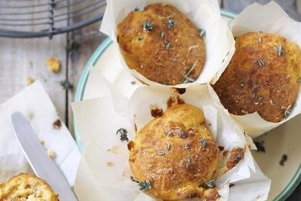 Slané muffiny se sýrem cottage