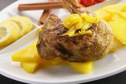 Kuře na mangu
