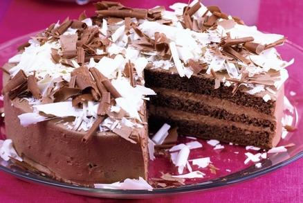 Krémový čokoládový dort