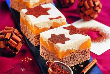 Broskvový koláč s hvězdičkami