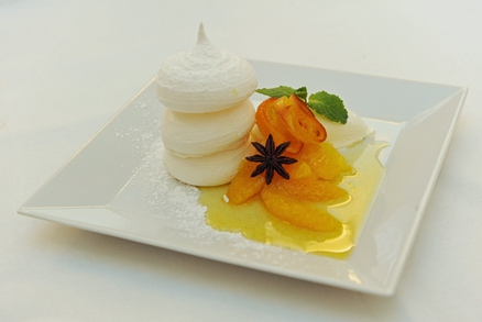 Sněhové pusinky s pomeranči v sirupu