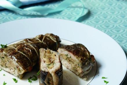 Filety ze pstruha plněné mandlovou nádivkou