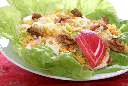 Barevný čočkový salát