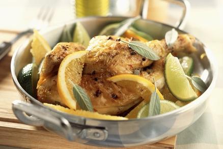 Voňavé kuře na limetkách a pomerančích