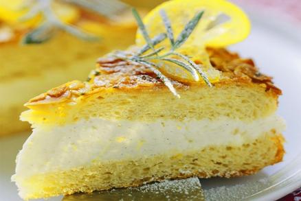 Nadýchaný dort s citronovým krémem