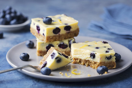 Cheesecake s borůvkami