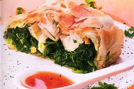 Slaný štrúdl s tofu a mangoldem (špenátem)