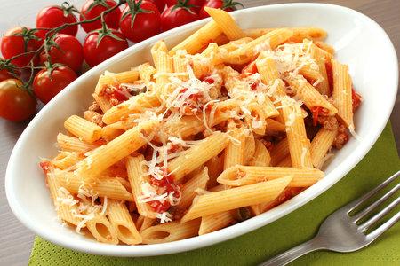 Penne se sušenými rajčaty
