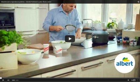 VIDEO: Albert škola vaření: Blanšírování a špenátová polévka