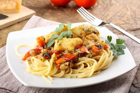 Špagety s treskou