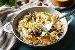 Vepřové maso zapečené s houbami